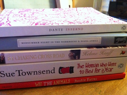 And the full haul of books from my trip. Not too many this time!